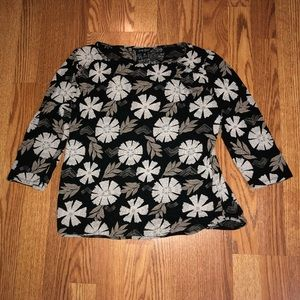 Lucky Brand 3/4 Sleeve Blouse Size MEDIUM